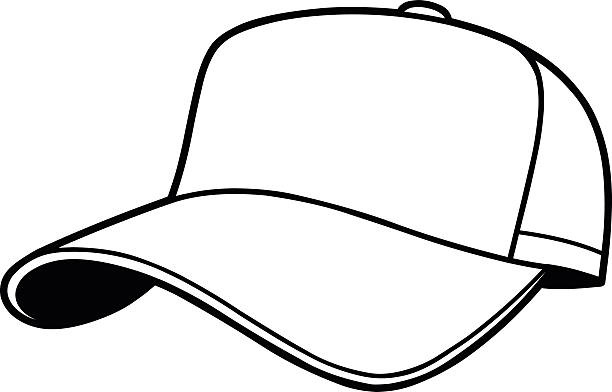 Baseball hat letters custom. Cap clipart black and white