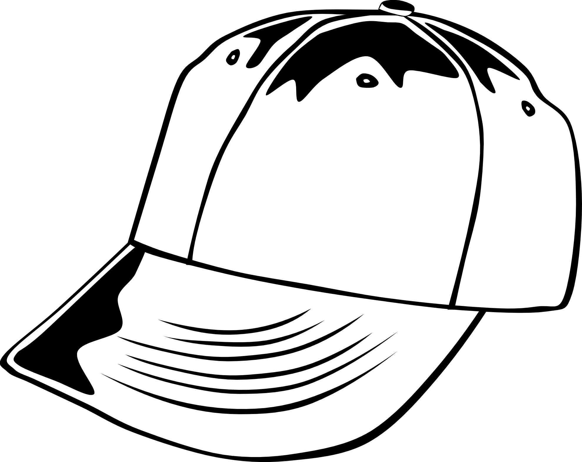 Newspaper clipart hat. Black and white cap