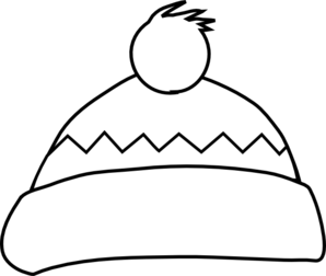 Winter hat panda free. Cap clipart black and white
