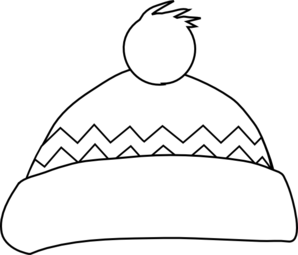 Hat clip art at. Cap clipart black and white