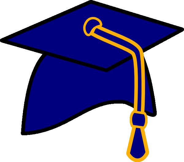 Blue cap graduaci n. Words clipart graduation
