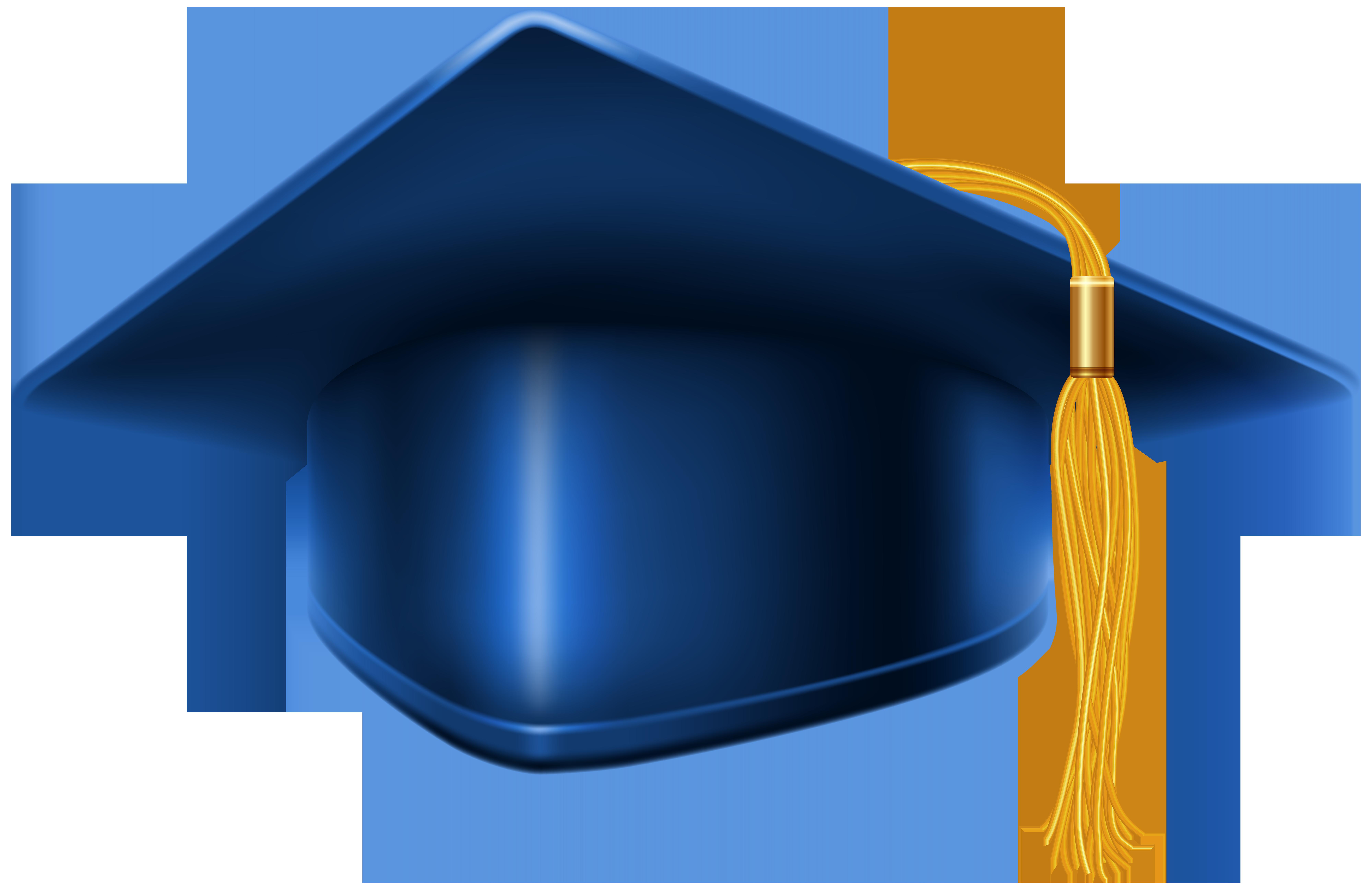 Clipart frames graduation. Blue cap png clip