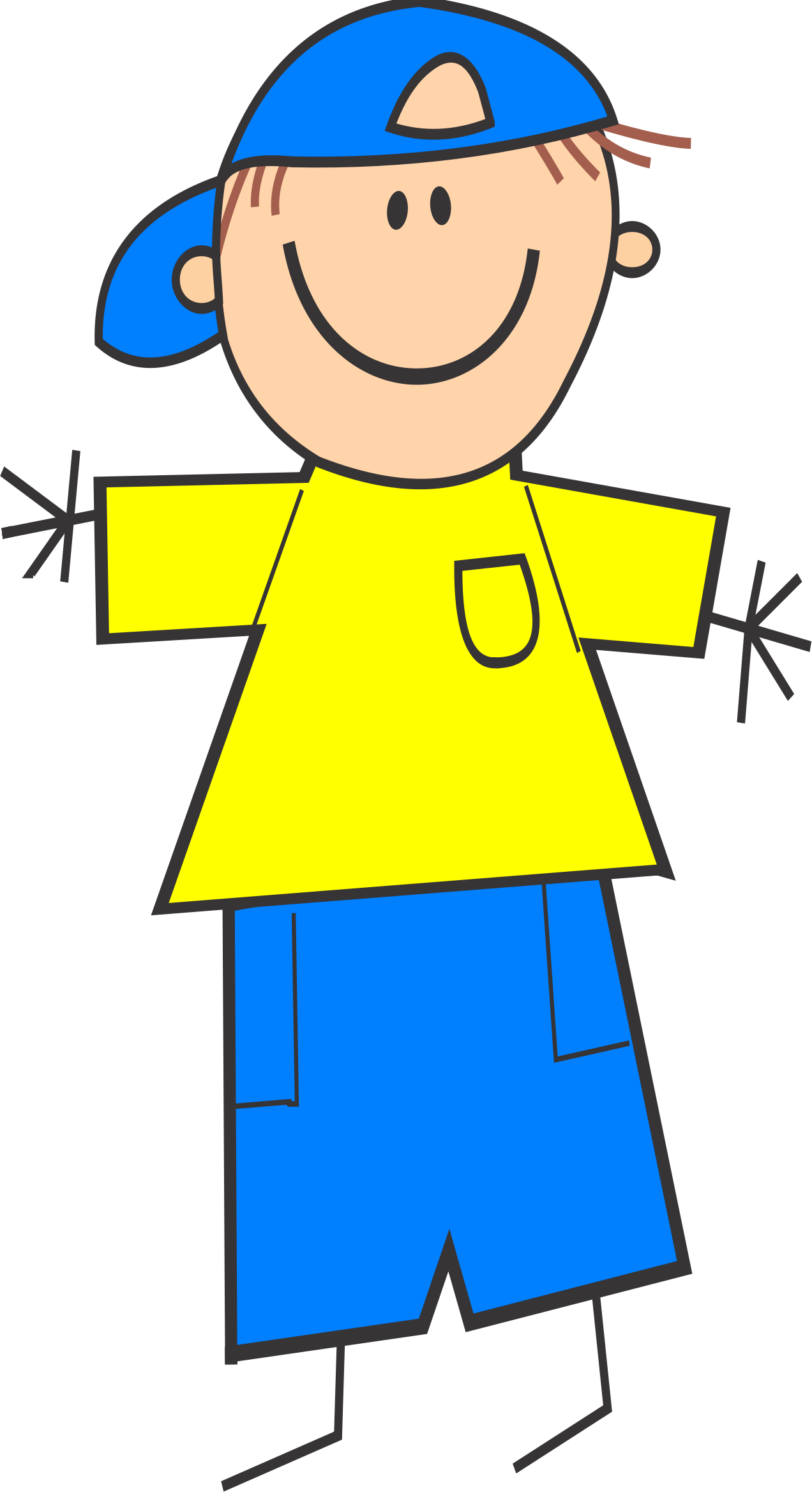 Clipart shirt child. Boy with cap big