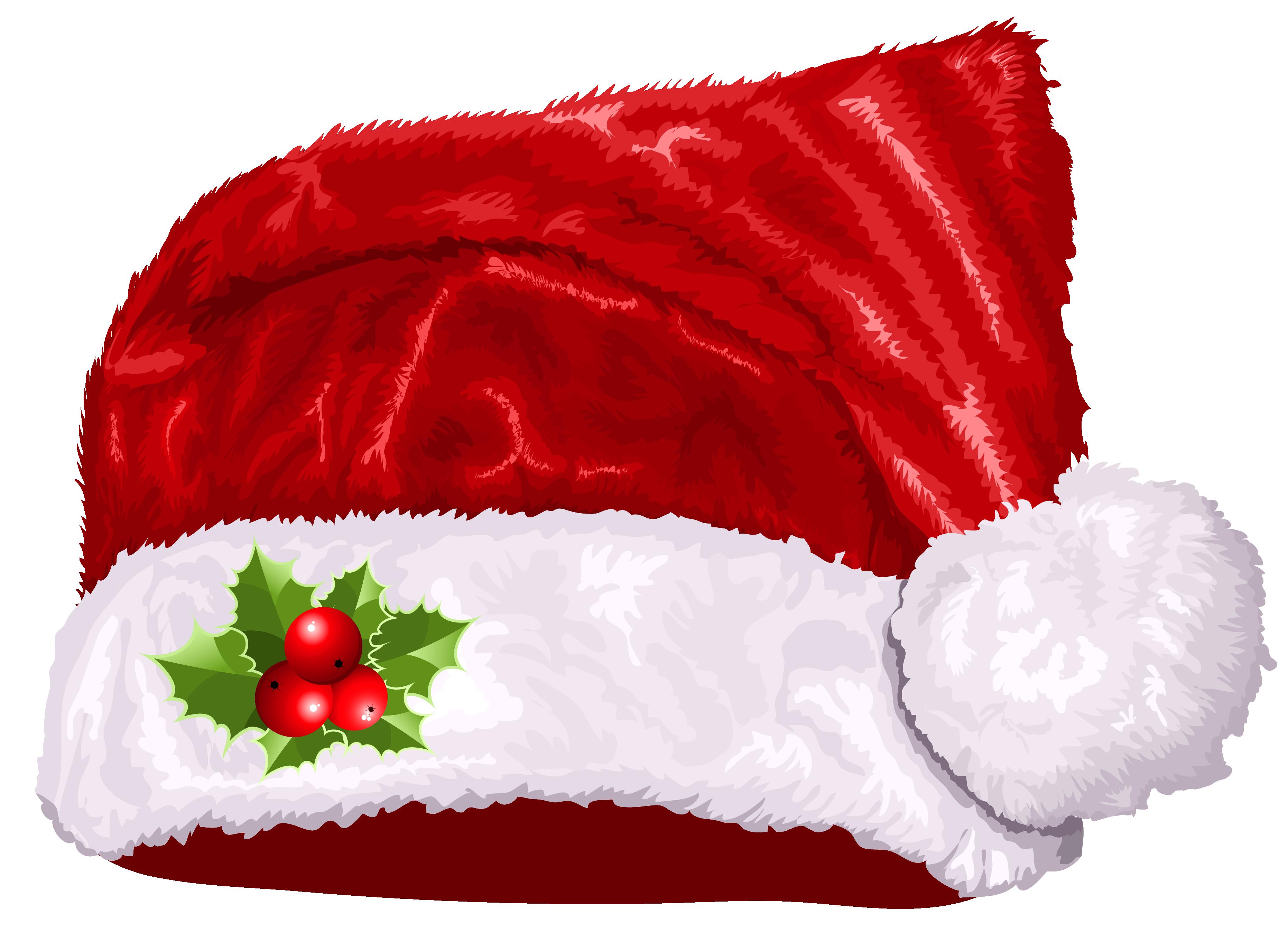 Clipart football christmas. Large transparent santa hat