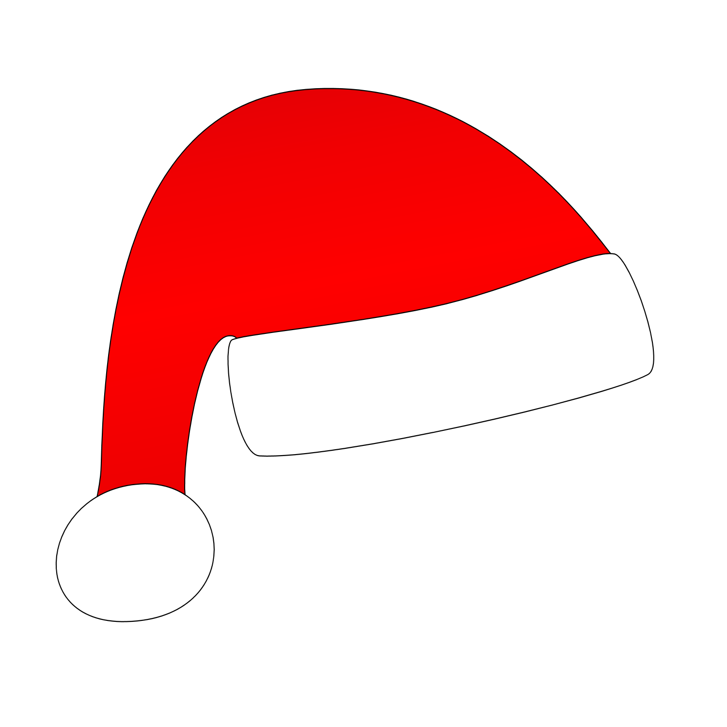 Hats clipart cat in hat. Christmas silhouette at getdrawings
