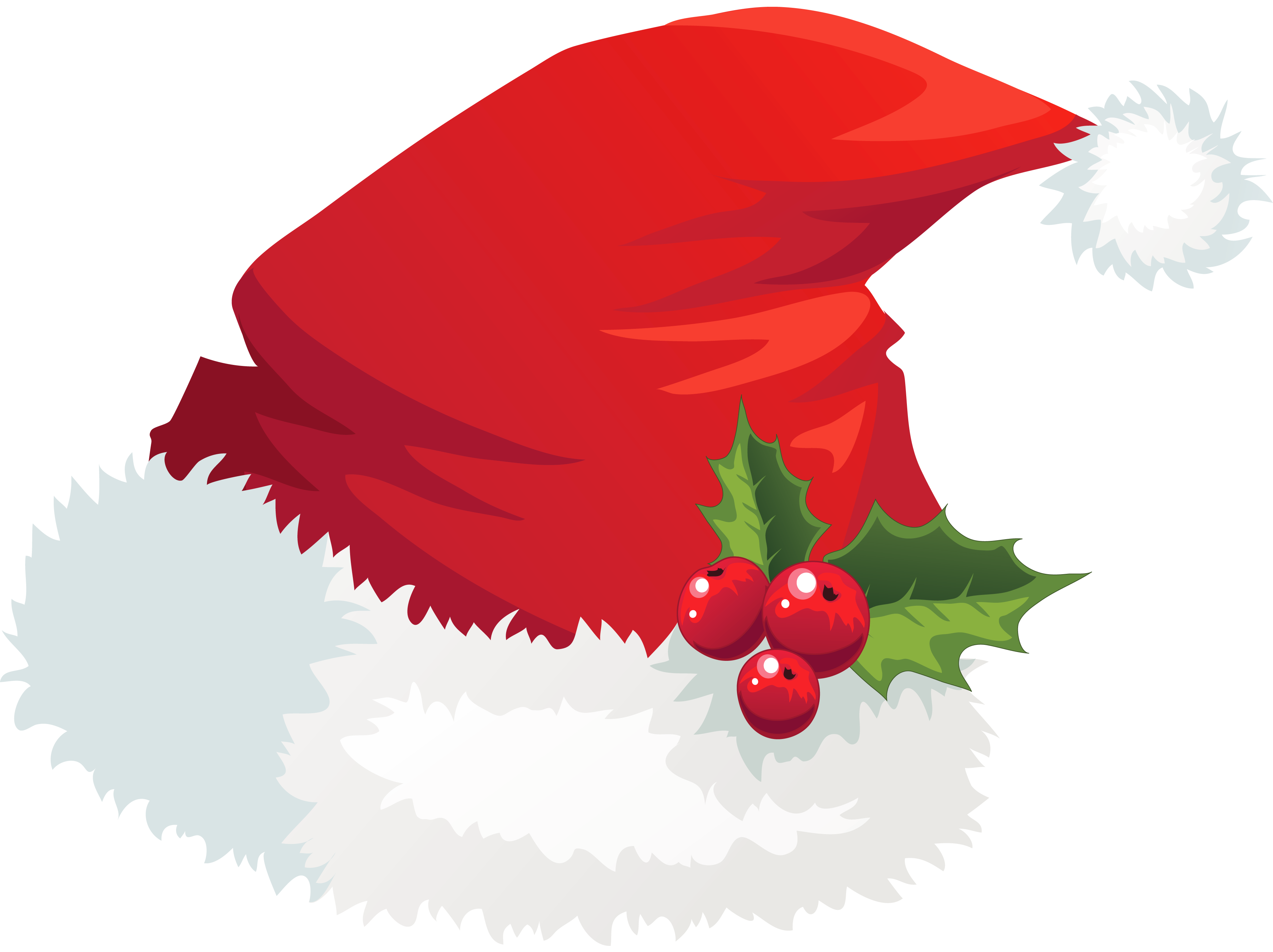 Transparent santa hat with. Pigeon clipart christmas