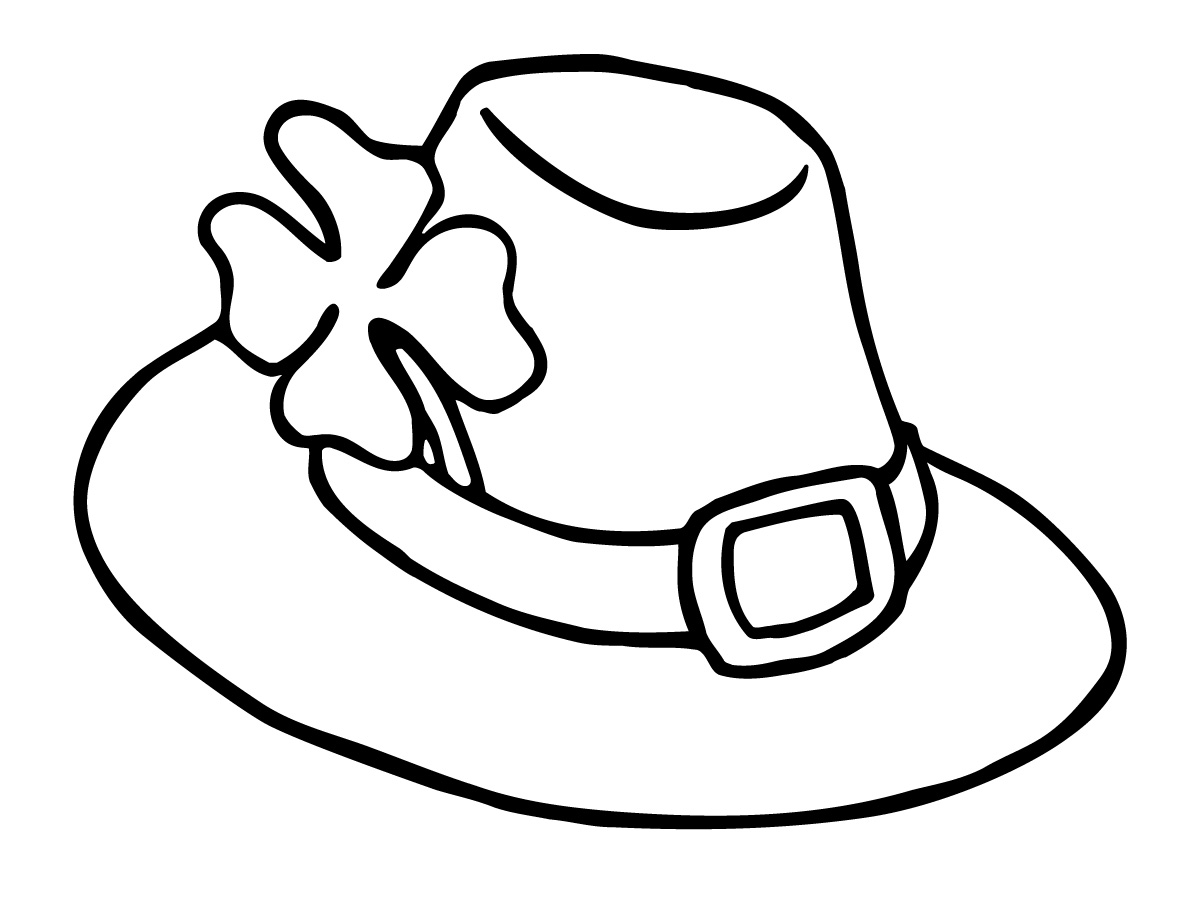 Cap clipart colouring. Hat coloring pages best