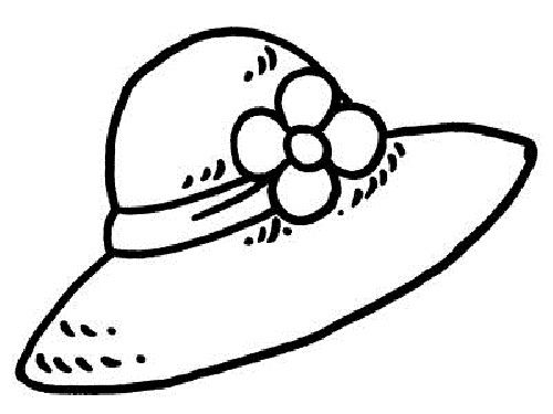 Hat coloring pages printable. Cap clipart colouring
