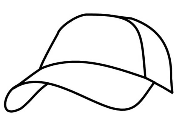 Hat page free download. Cap clipart colouring