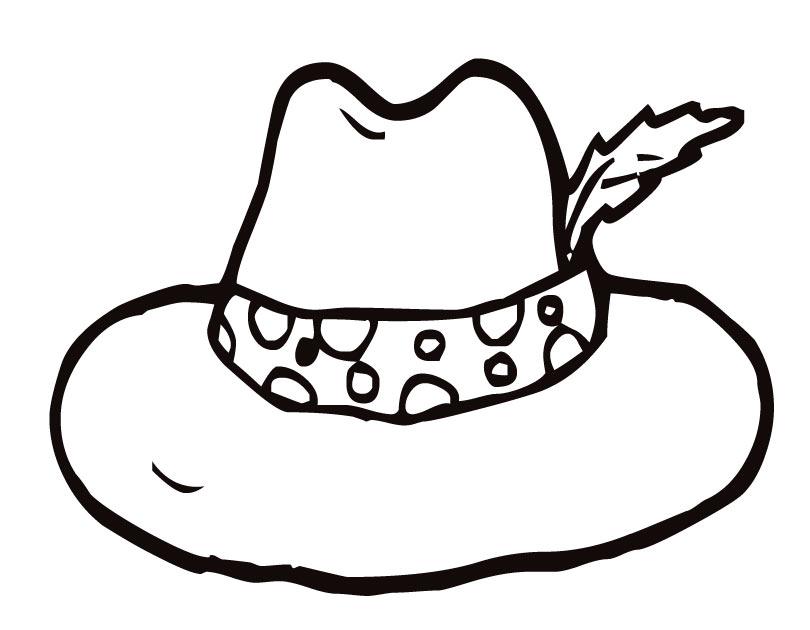 Download page of hat. Cap clipart colouring