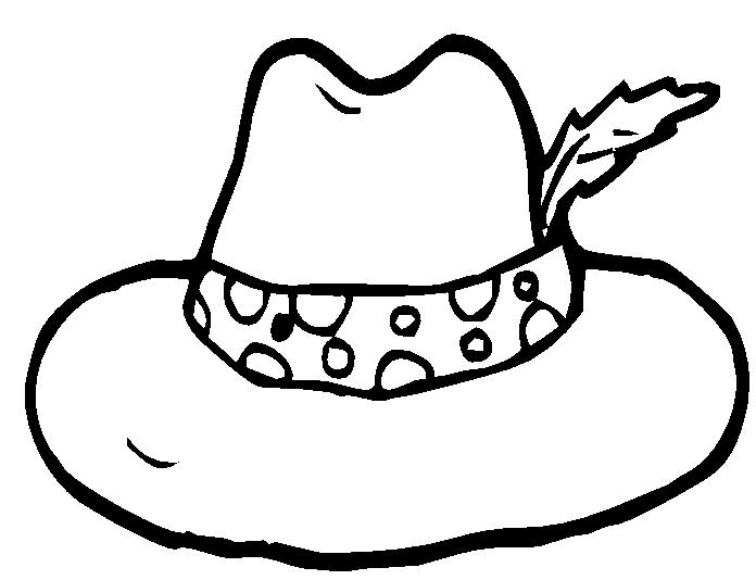 Cap clipart colouring page. Hat pictures to color