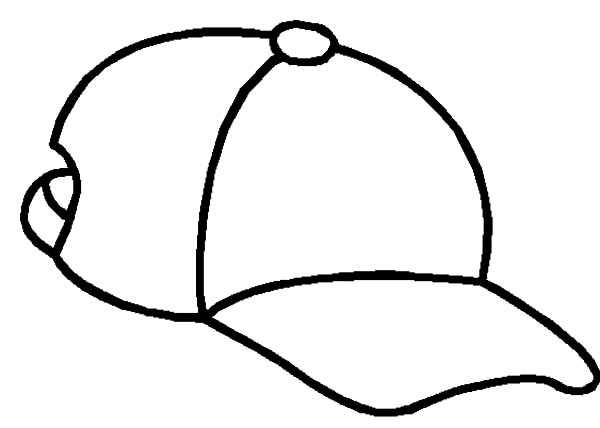 Hat pictures to color. Cap clipart colouring page