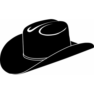 Cap clipart cowboy. Hat silhouette