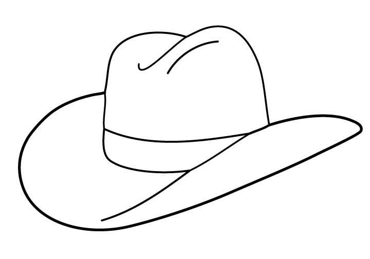 Free boot outline folioglyphs. Cap clipart cowboy