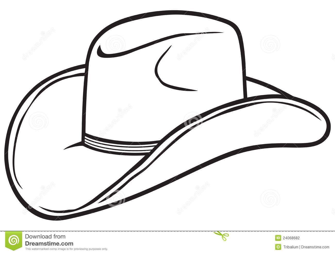 Cowboy hat black and. Hats clipart cow boy