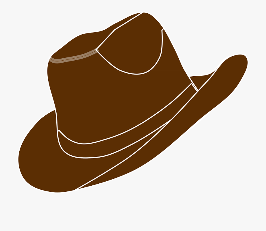 Cap clipart cowboy. Cowgirl brown boot hat
