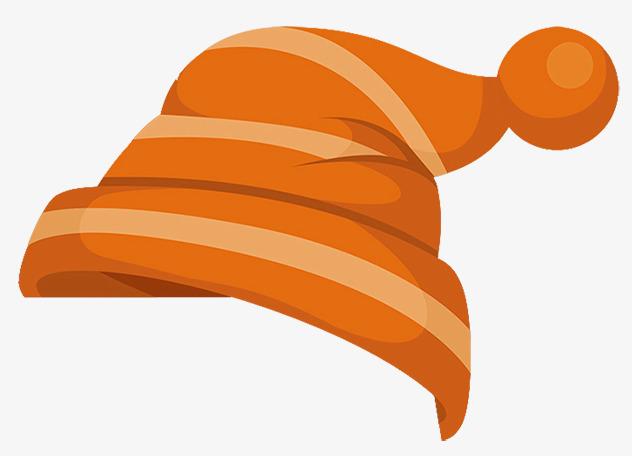 Orange hat cartoon ball. Cap clipart cute