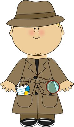 Girl could label agents. Cap clipart detective