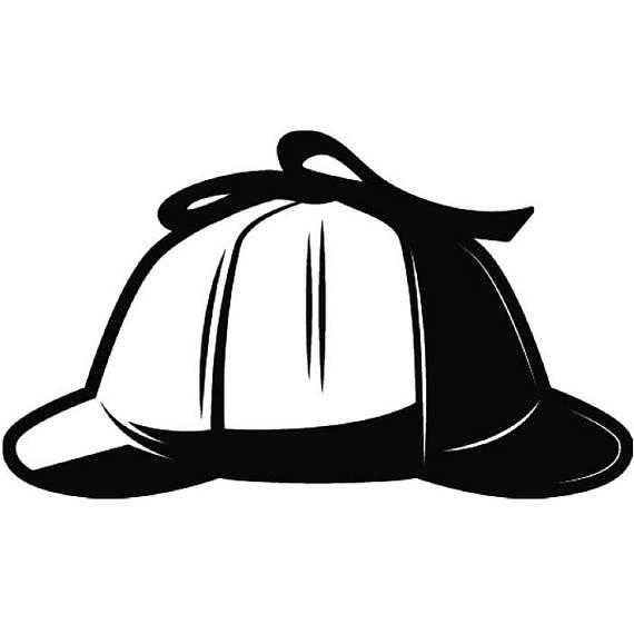 Hat spy investigation private. Detective clipart cap