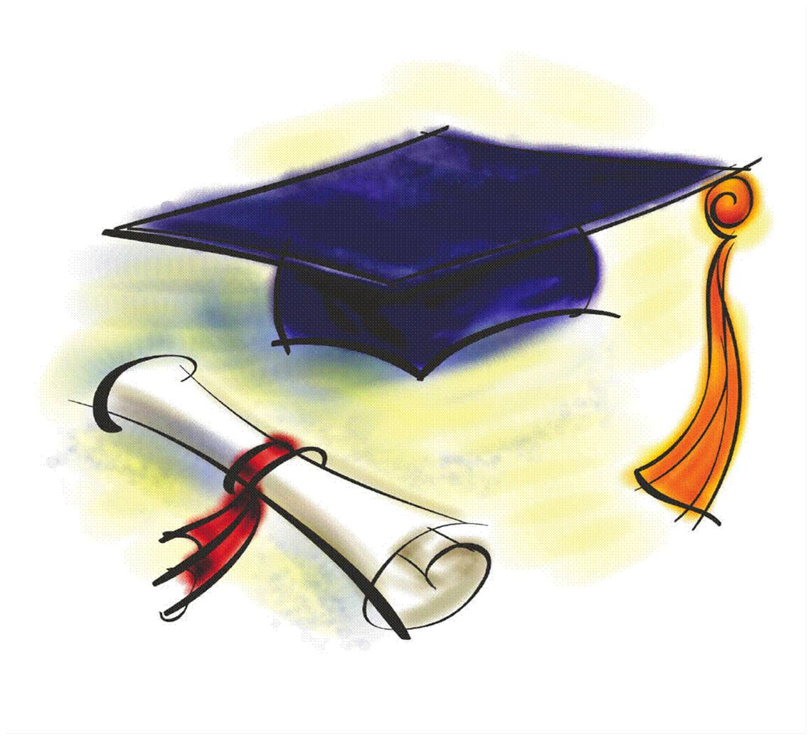 Diploma clipart small. Free graduation cap and