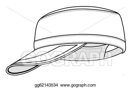 Cap clipart drawing. Vector art military gg