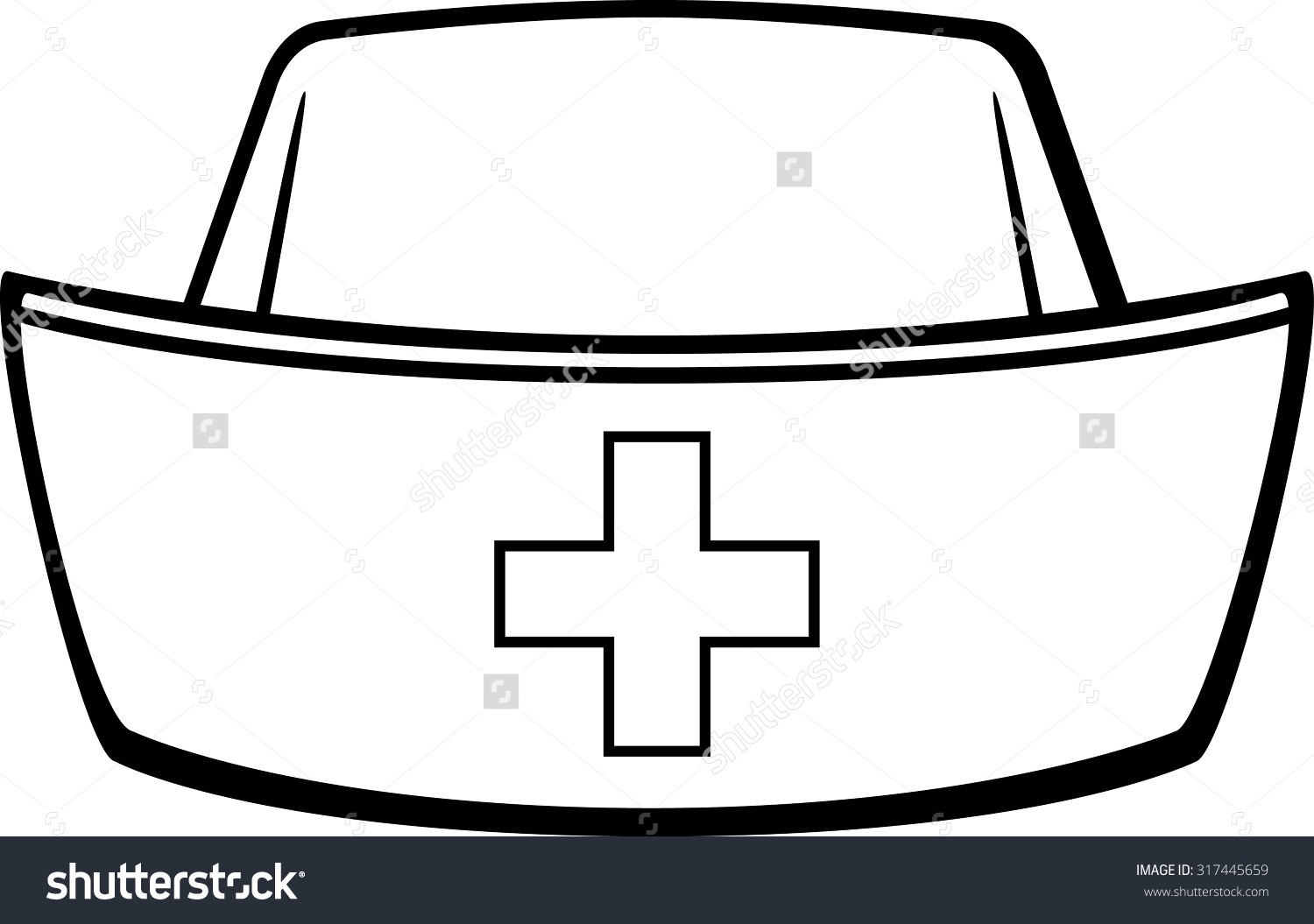 Cap clipart drawing. Nurse at getdrawings com