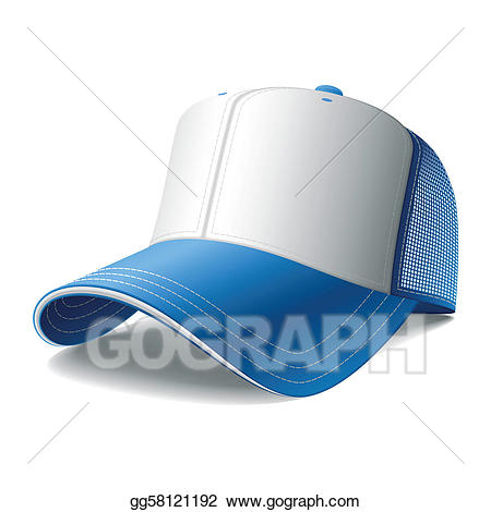 Vector art blue baseball. Cap clipart drawing