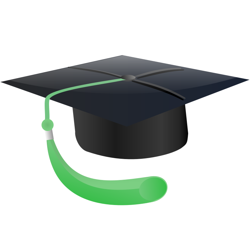 Free education graphics green. Student clipart graduation