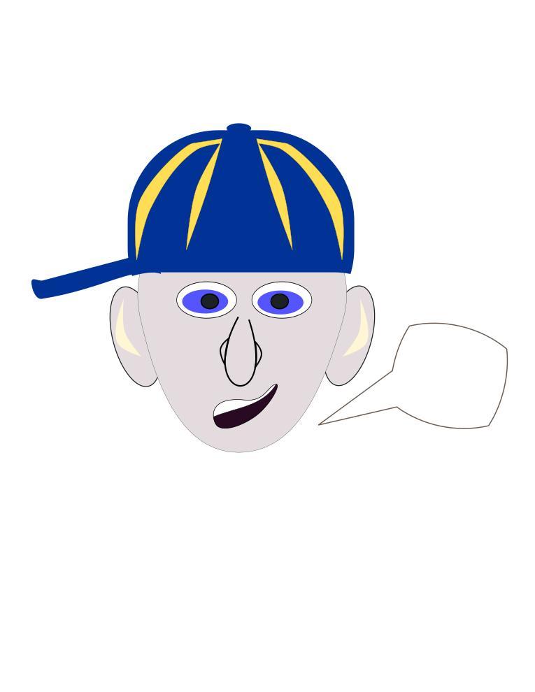 Boy with baseball design. Cap clipart face