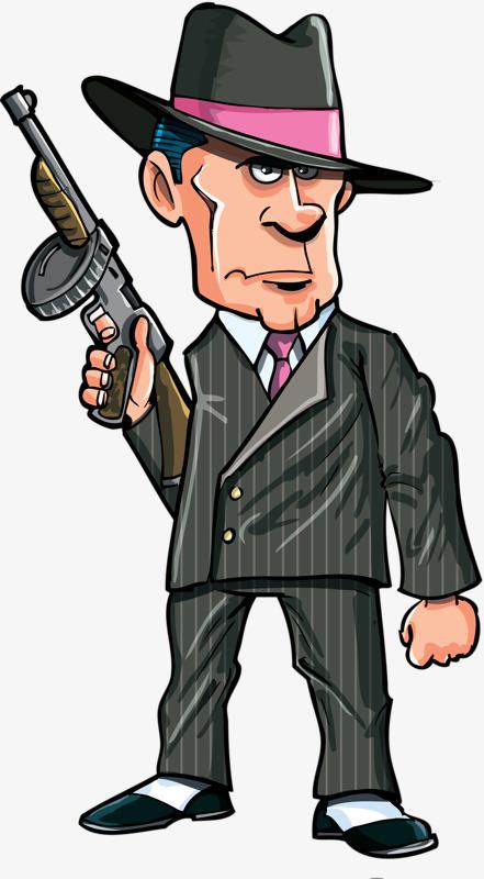 Gangsters png images vectors. Cap clipart gangster