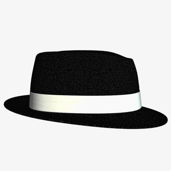 Cap clipart gangster. Broad brimmed white hat