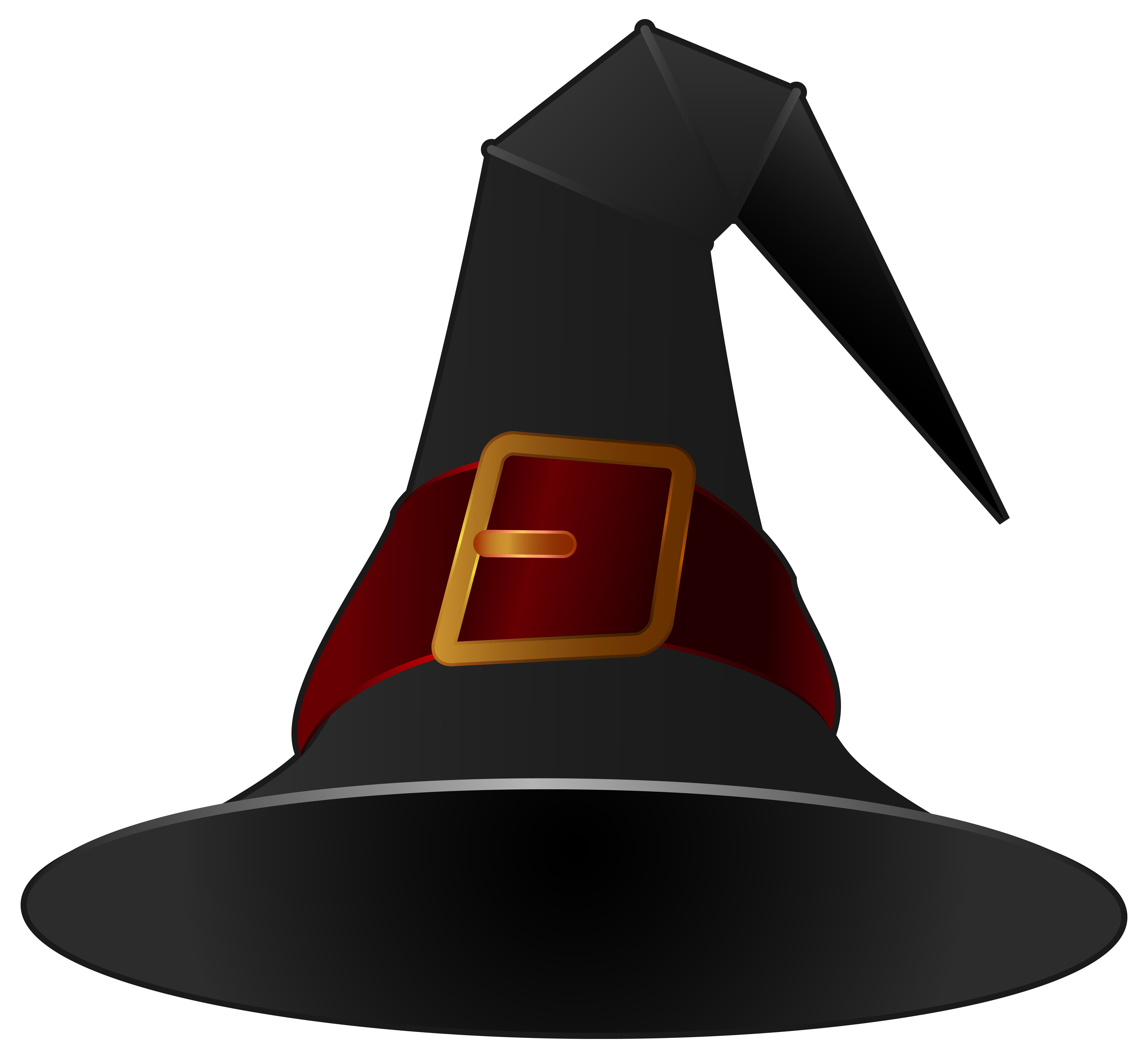 Black witch png image. Clipart halloween hat