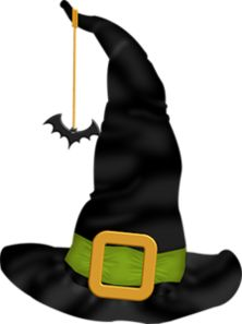 Witch hat silhouette at. Cap clipart halloween
