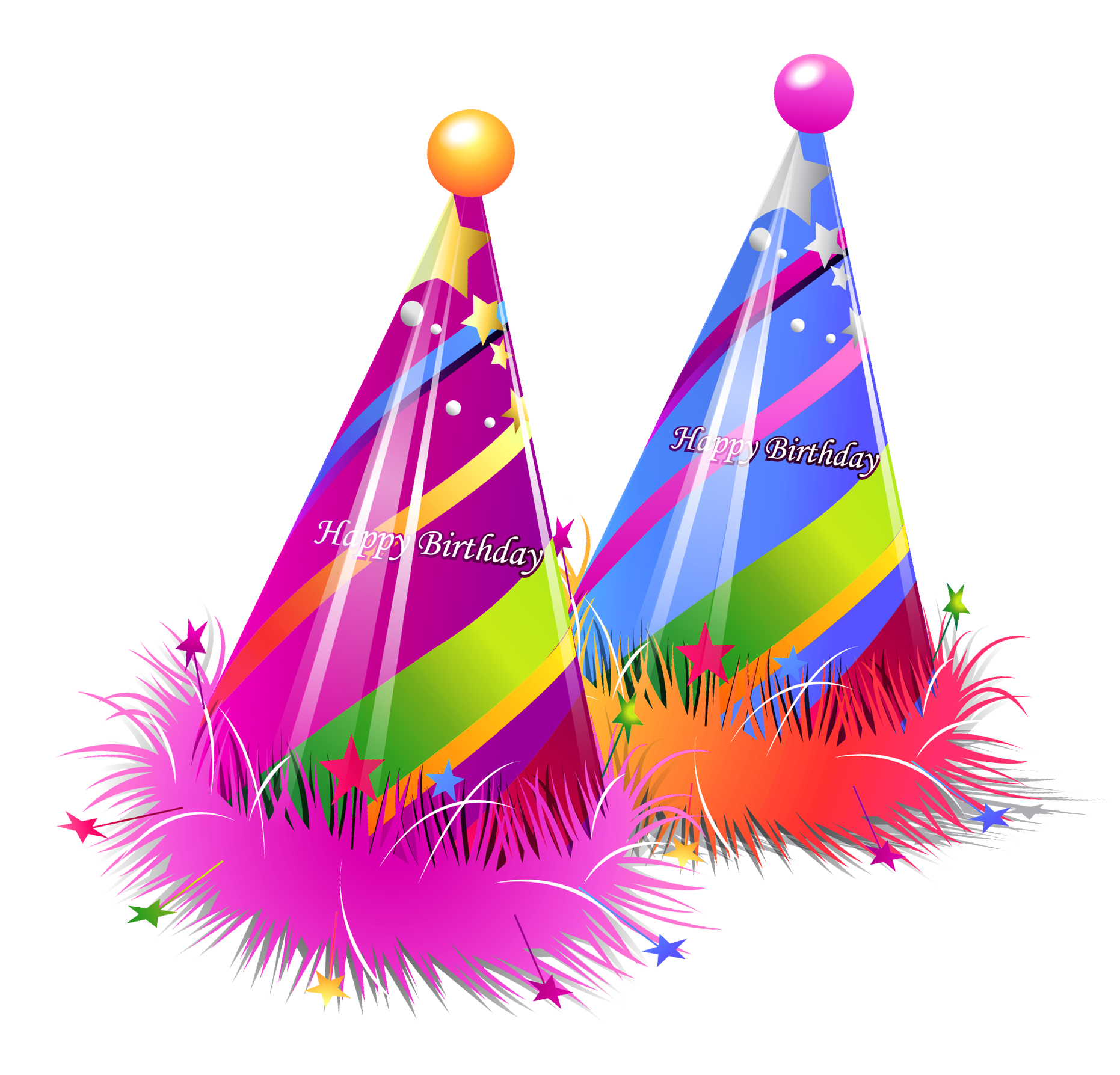 Tree clipart atis. Happy birthday party hats