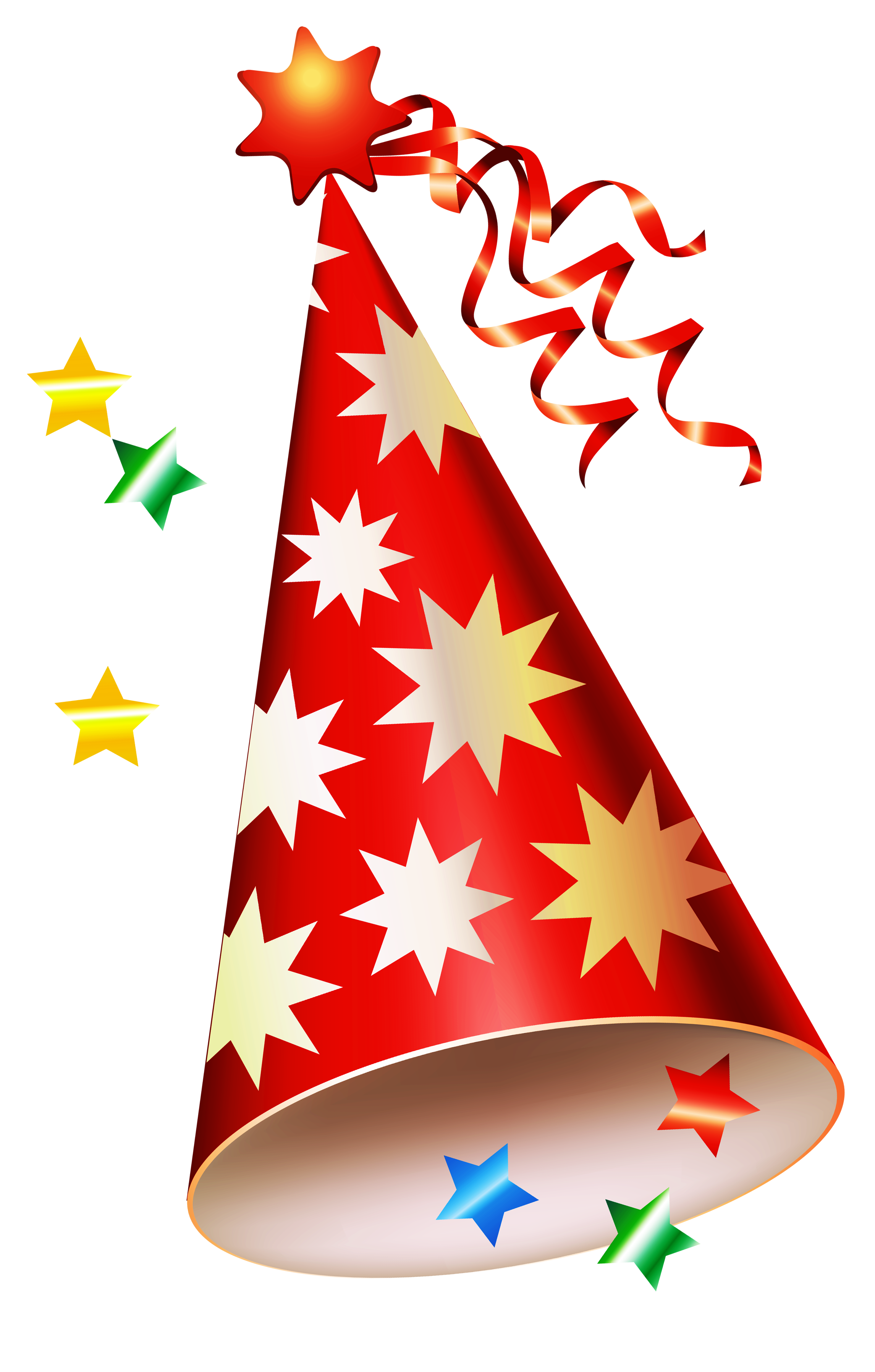 Celebrate clipart clear background. Red party hat transparent