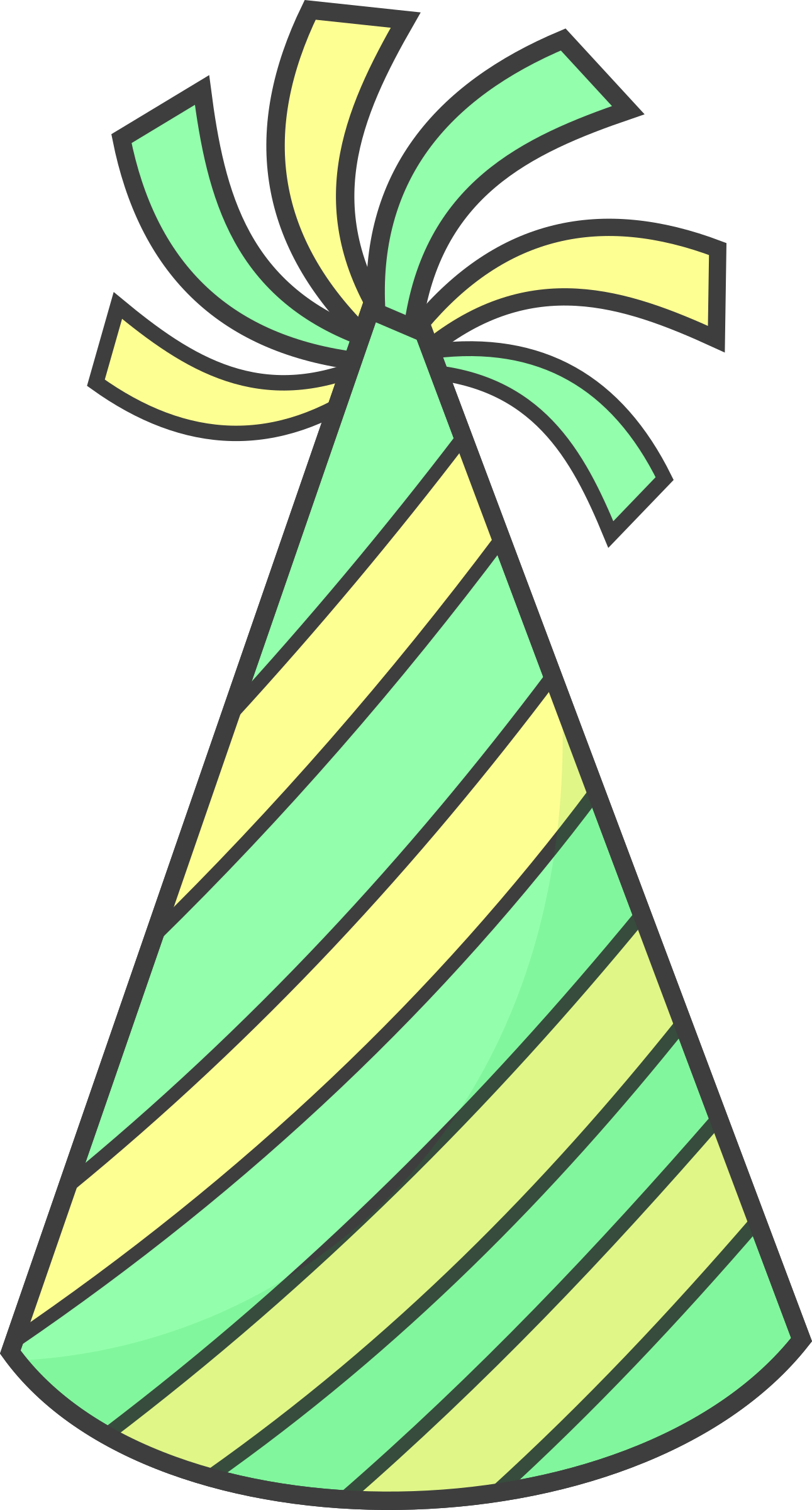 Wednesday clipart yay. Green party hat big