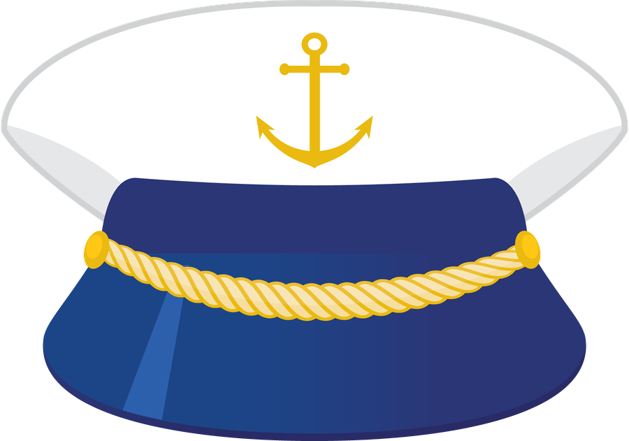 Captain hat ii pinterest. Number 1 clipart nautical