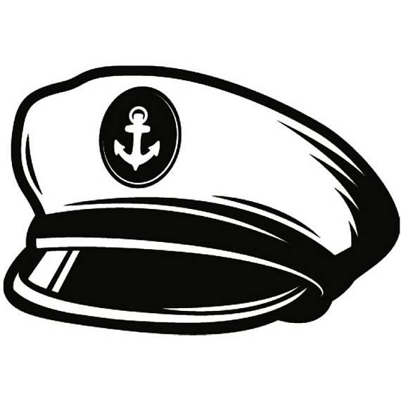 Cap clipart ship captain. Hat naval navy boat
