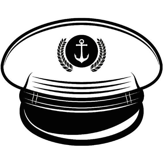 Hat naval navy boat. Cap clipart ship captain