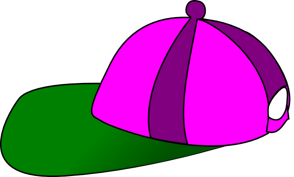 Baseball hat side view. Clipart summer cap