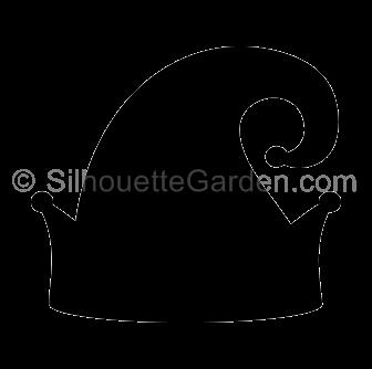 Elf hat . Cap clipart silhouette
