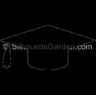 Cap clipart silhouette. Graduation clip art download