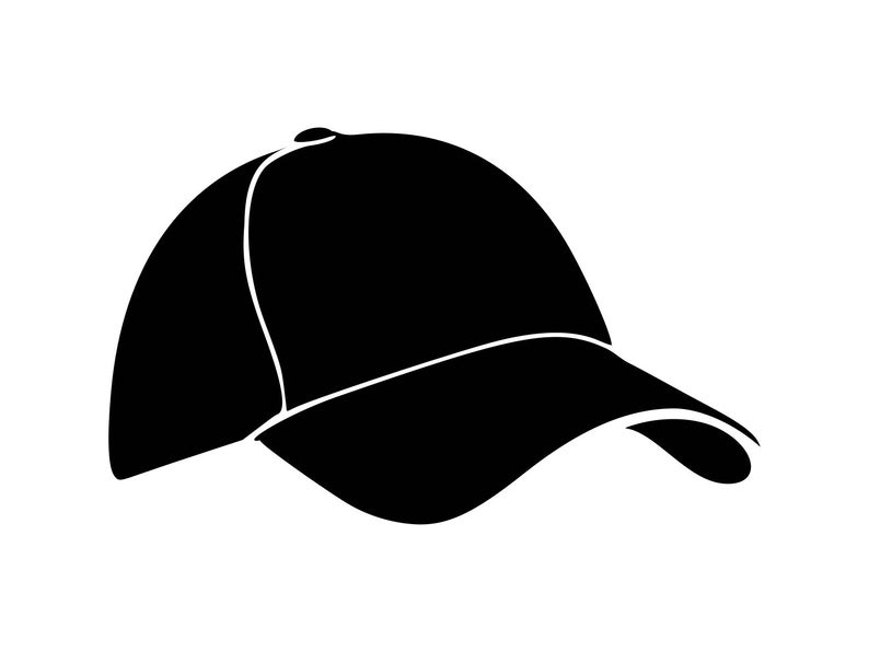 Baseball svg hat decal. Cap clipart silhouette