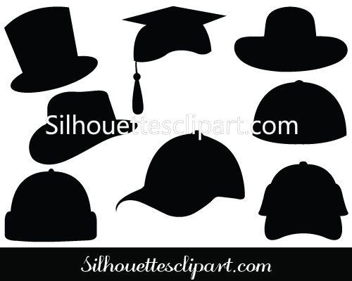 Cap clipart silhouette. Hat vector study