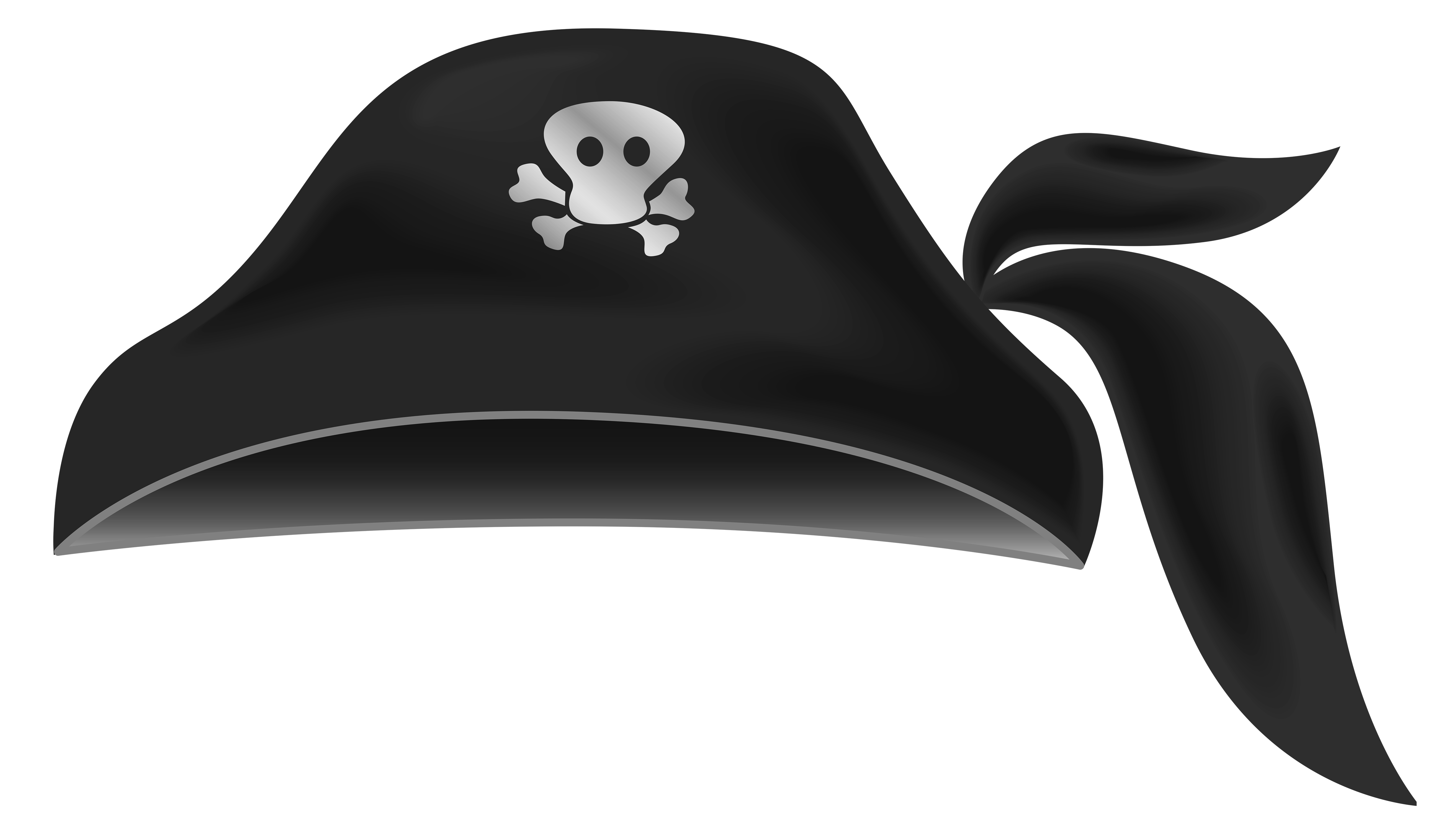 Hats clipart transparent background. Black pirate hat gallery