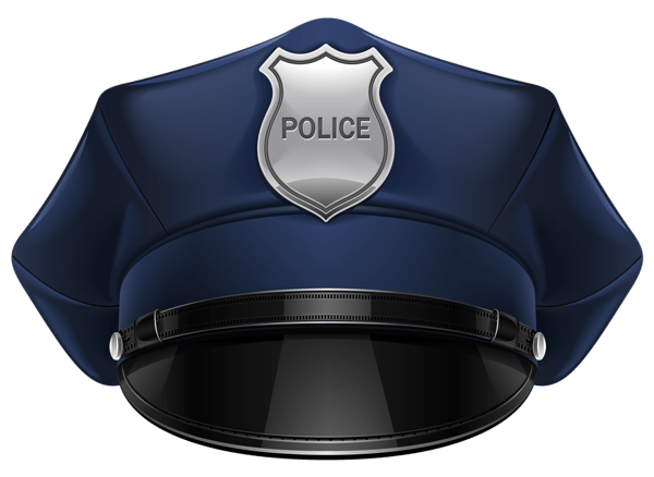 Cap clipart transparent background. Police hat png stickpng