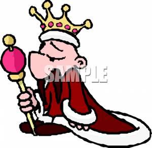 King clipart cape. A cartoon of man