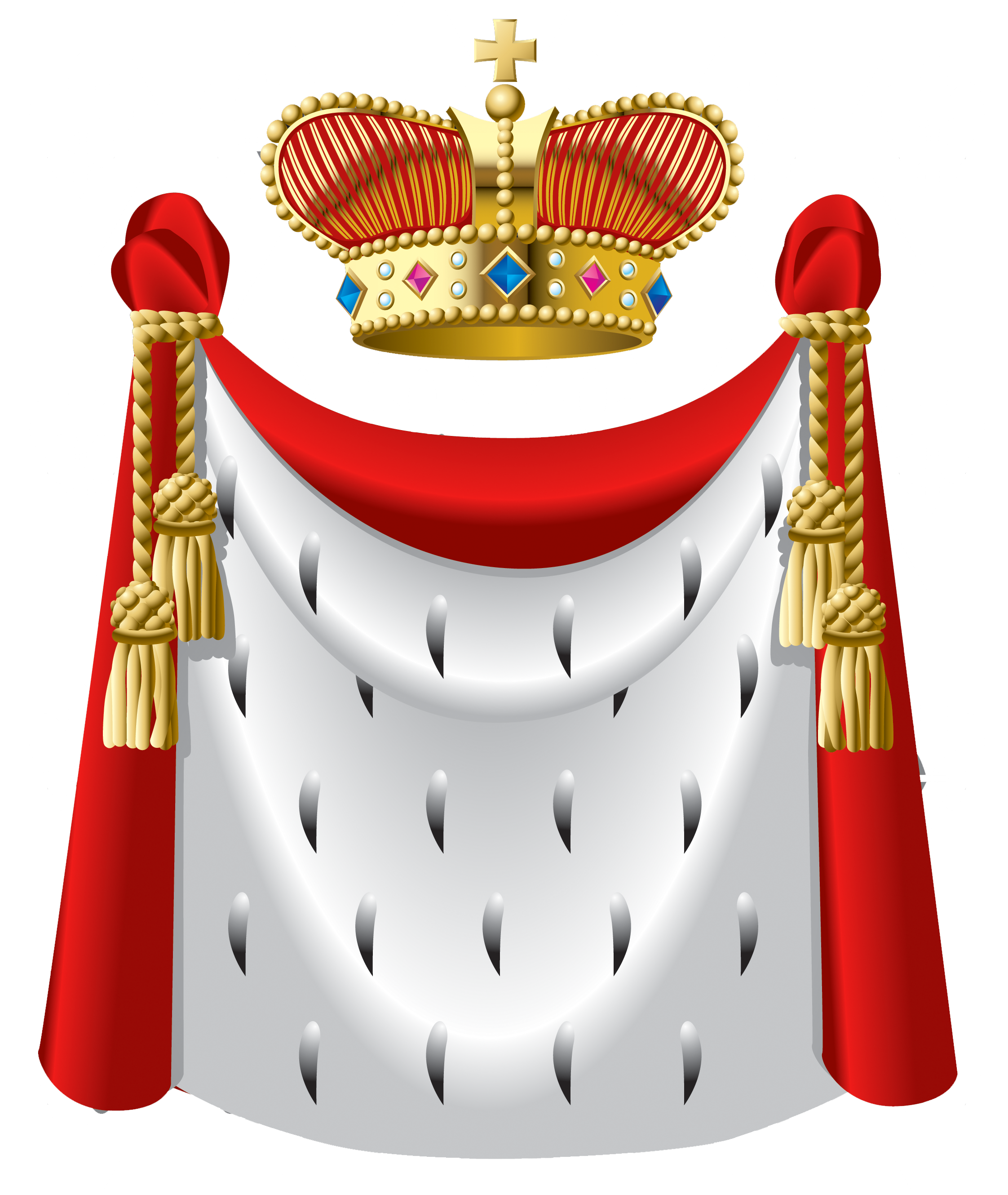 King crown and cape. Clipart clothes prom
