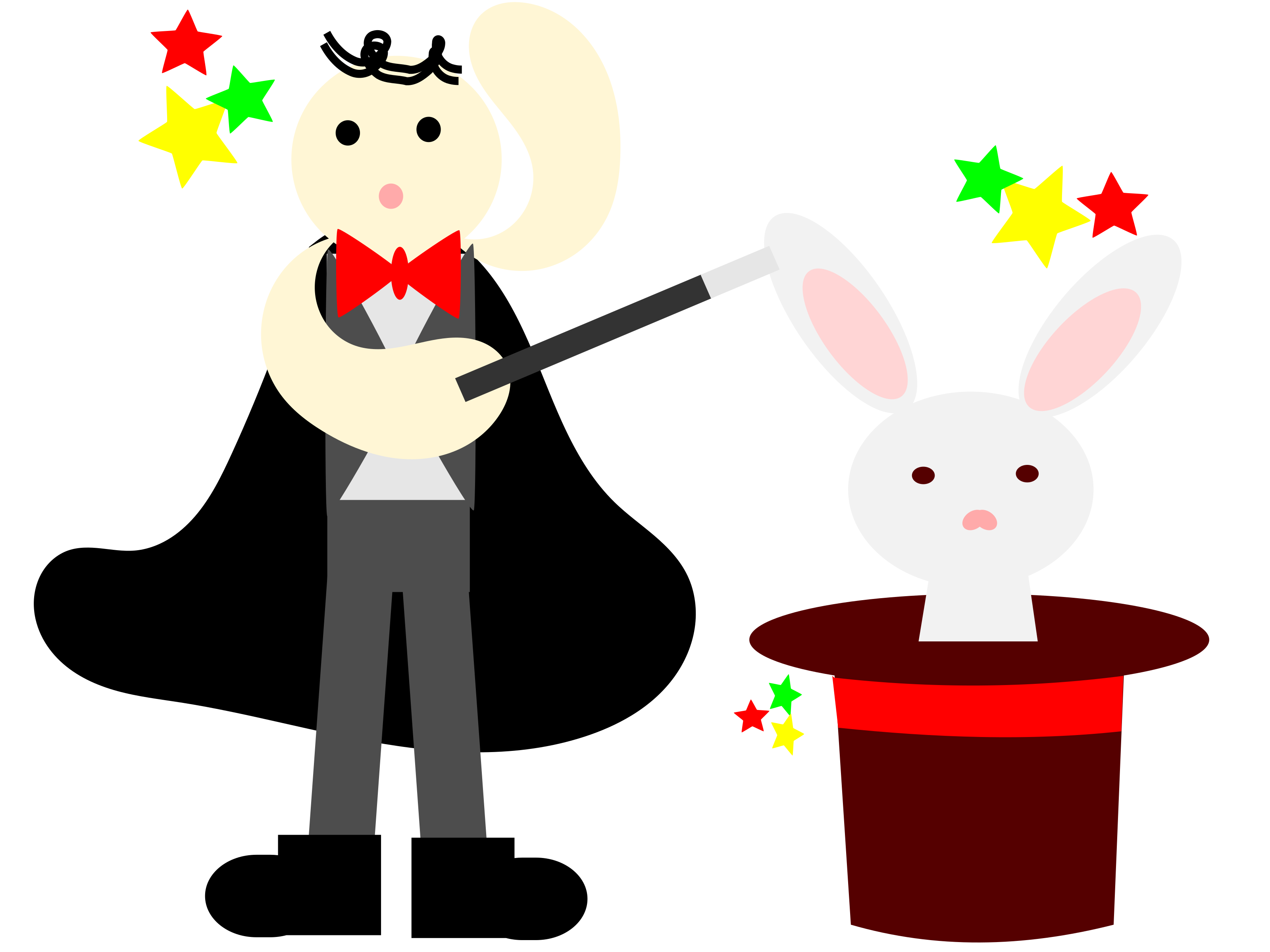 With a rabbit in. Magician clipart holiday hat