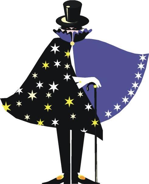 Free picture download clip. Magician clipart cape